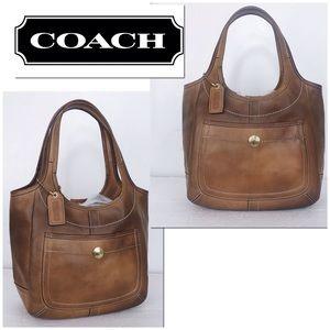 Coach Legacy Intentionally Distressed Tan Ergo Bag